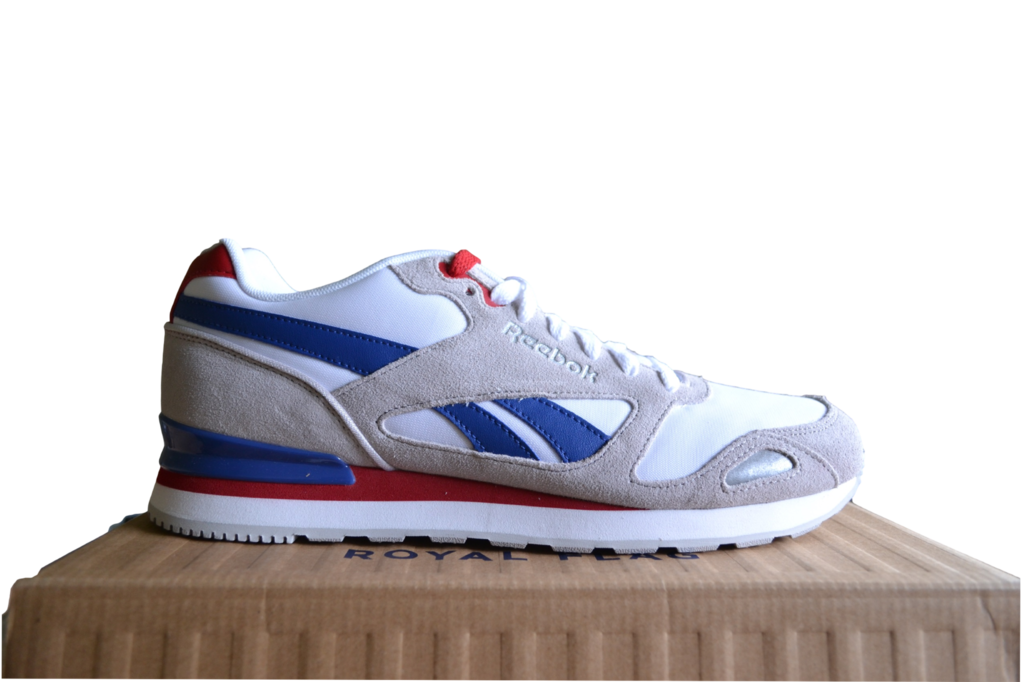 e563286fe ... Reebok Royal Mission Men s Classic Trainers Grey White Blue Red M47494  ...