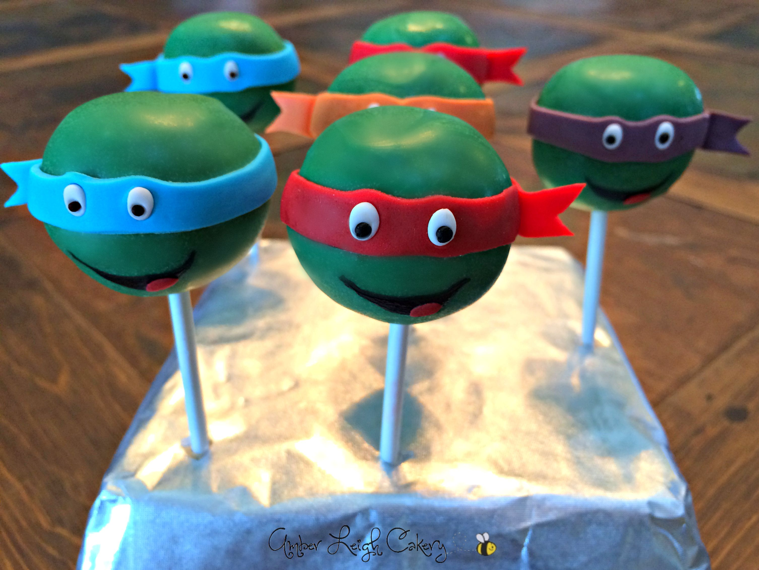 Teenage Mutant Ninja Turtle Cake Pops Ninja Turtle Cake Pops Ninja Turtle Cake Turtle Cake