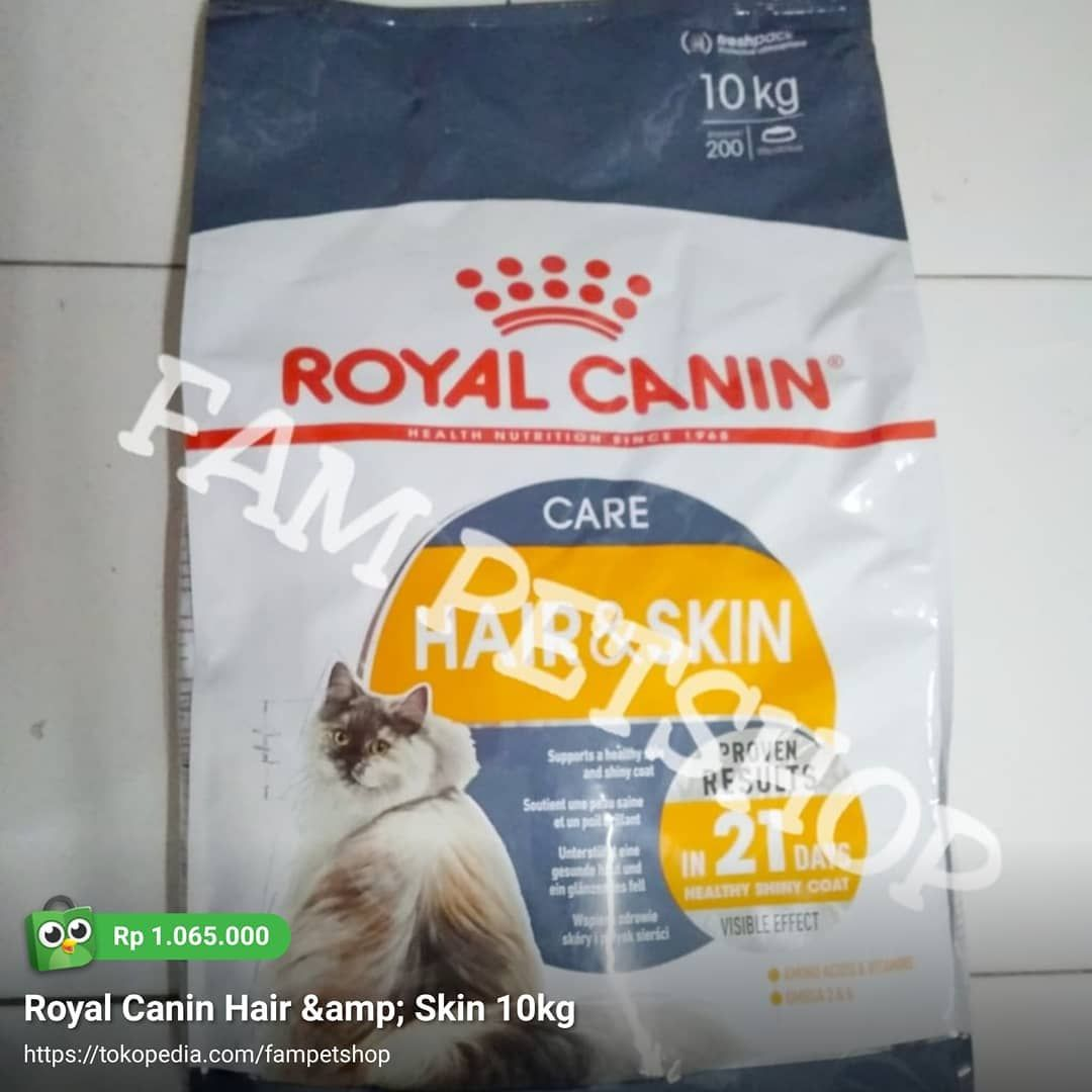 Royal Canin Hair N Skin 10kg Rc Royalcanin Hairnskin Hairskin Makanankucing Makanananjing Catfood Dogfood Jualcatfood Cat Food 10 Things Royal Canin