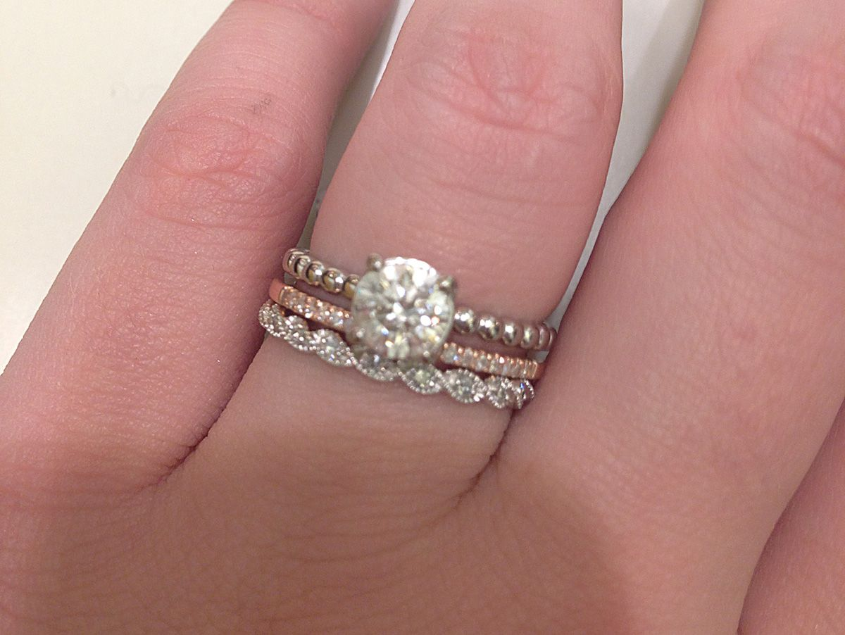 stackable wedding bands mismatched wedding rings Google Search
