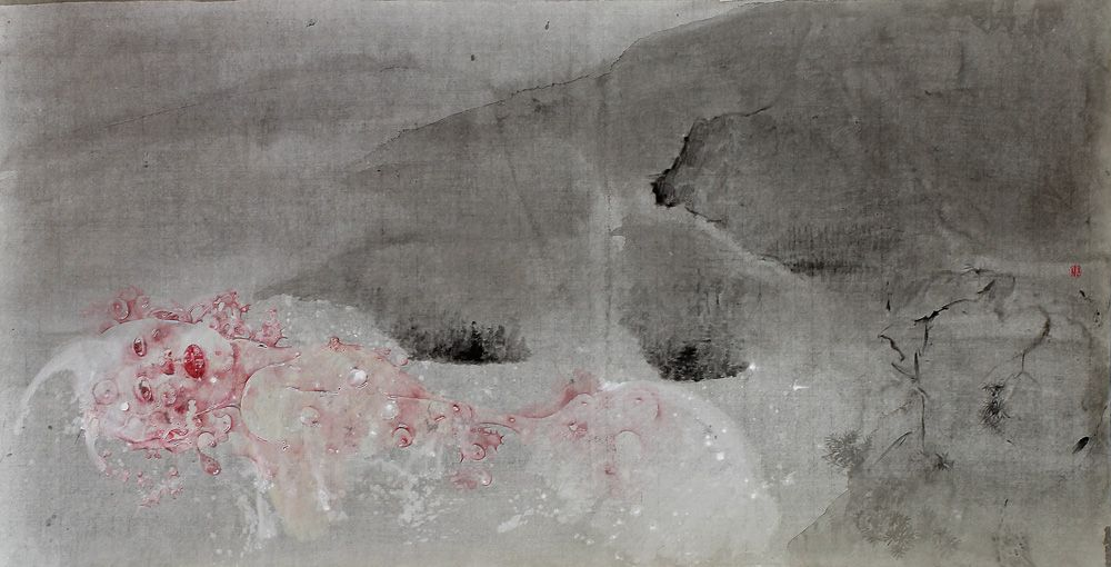 2013 MOUNTAIN IN DARKNESS-I, by Wei Dong (魏东; b1968, Chifeng, Inner Mongolia, China; based in NJ, US)
