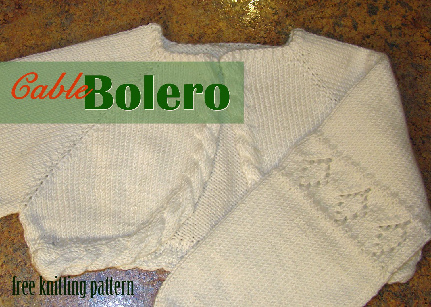 Free knitting pattern cable bolero knitting pinterest free knitting pattern cable bolero bankloansurffo Image collections