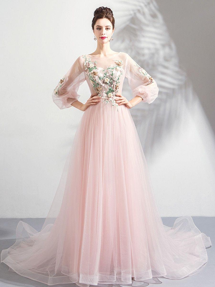 Buy womenus full dress long sleeve embroidery comfy maxi long dress