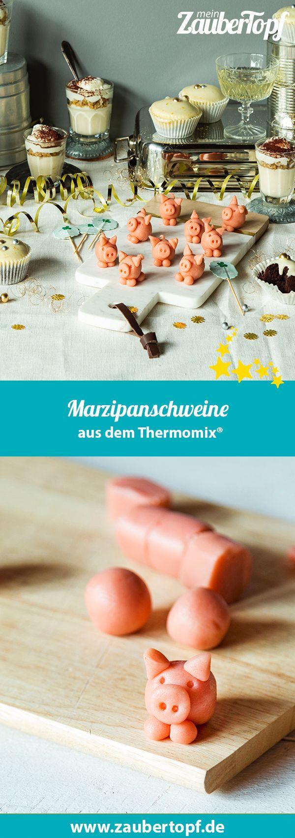 Kleine Glücksbringer: Marzipanschweine – Rezept für den Thermomix