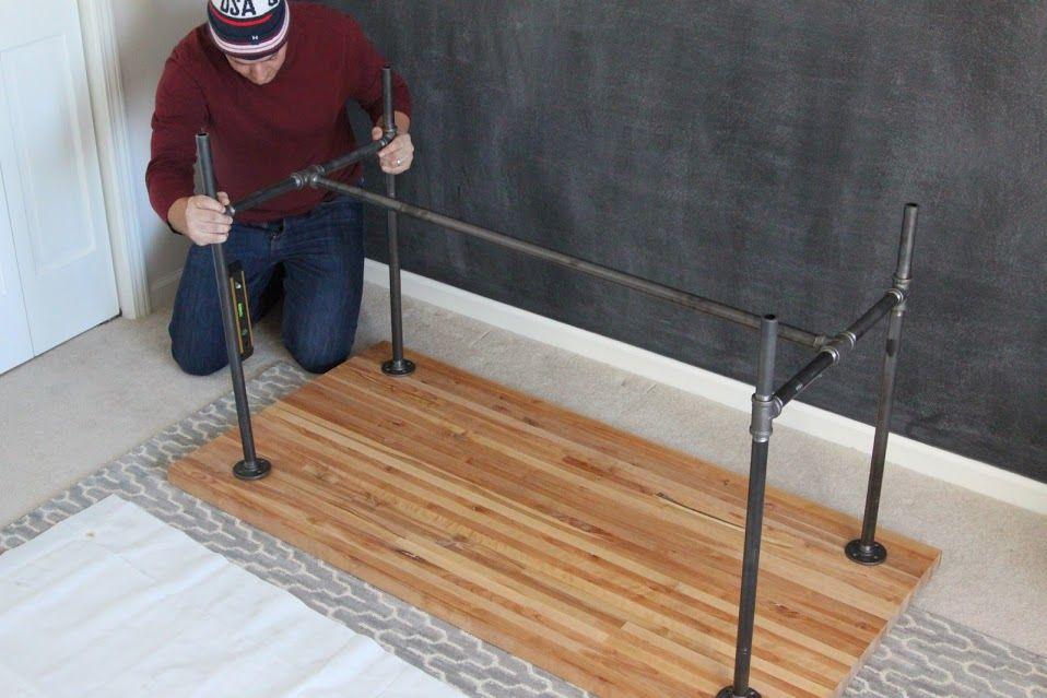 Diy Piping Table Bar Height Table Diy Craft Table Ikea