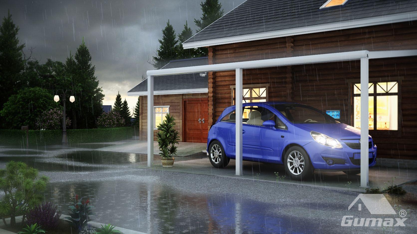 Overkapping Voor Auto : Met een carport staat uw auto altijd droog. gumax carport design in