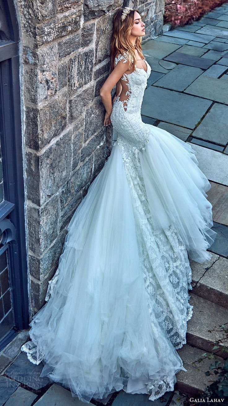 galia lahav bridal spring 2017 cap sleeves sweetheart mermaid ...