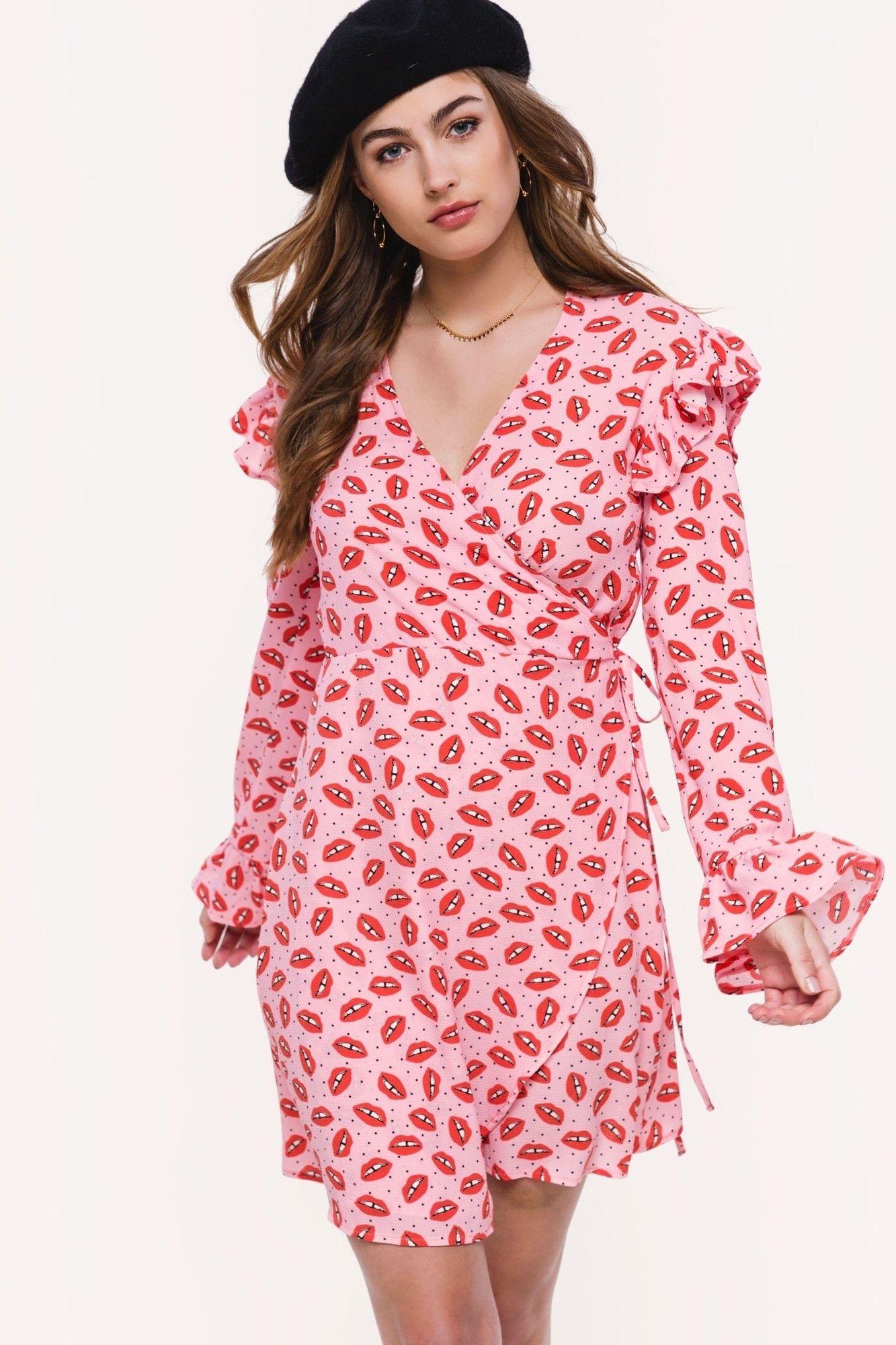 795ff29f Loavies lippen ruffle jurk | Fashion Webshop LOAVIES | Jurkjes ...