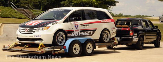 Souped Up Honda Odyssey Minivan Set For One Lap Of America