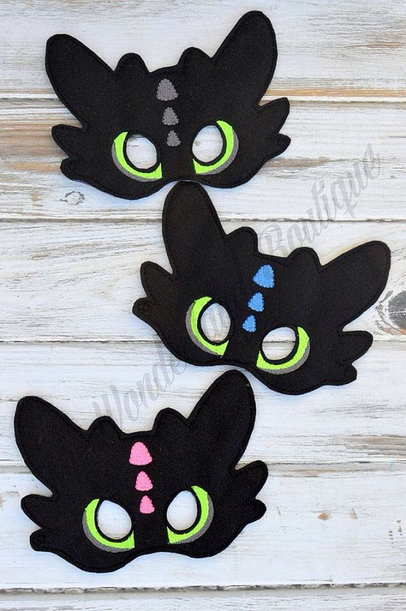 toothless dragon mask dragons party drachen party. Black Bedroom Furniture Sets. Home Design Ideas
