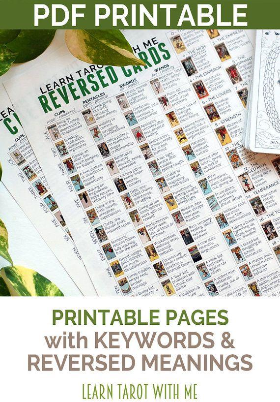 Crafty image regarding printable tarot cheat sheet