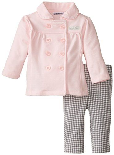 54af41dface1 Calvin Klein Baby-Girls Newborn Jacket with Printed Pants
