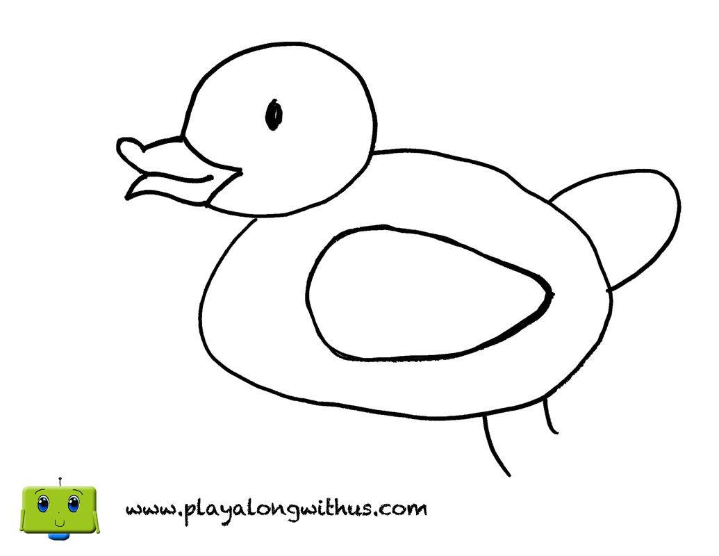 Duck from Old MacDonald\'s farm coloring page! www.PlayAlongWithUs ...