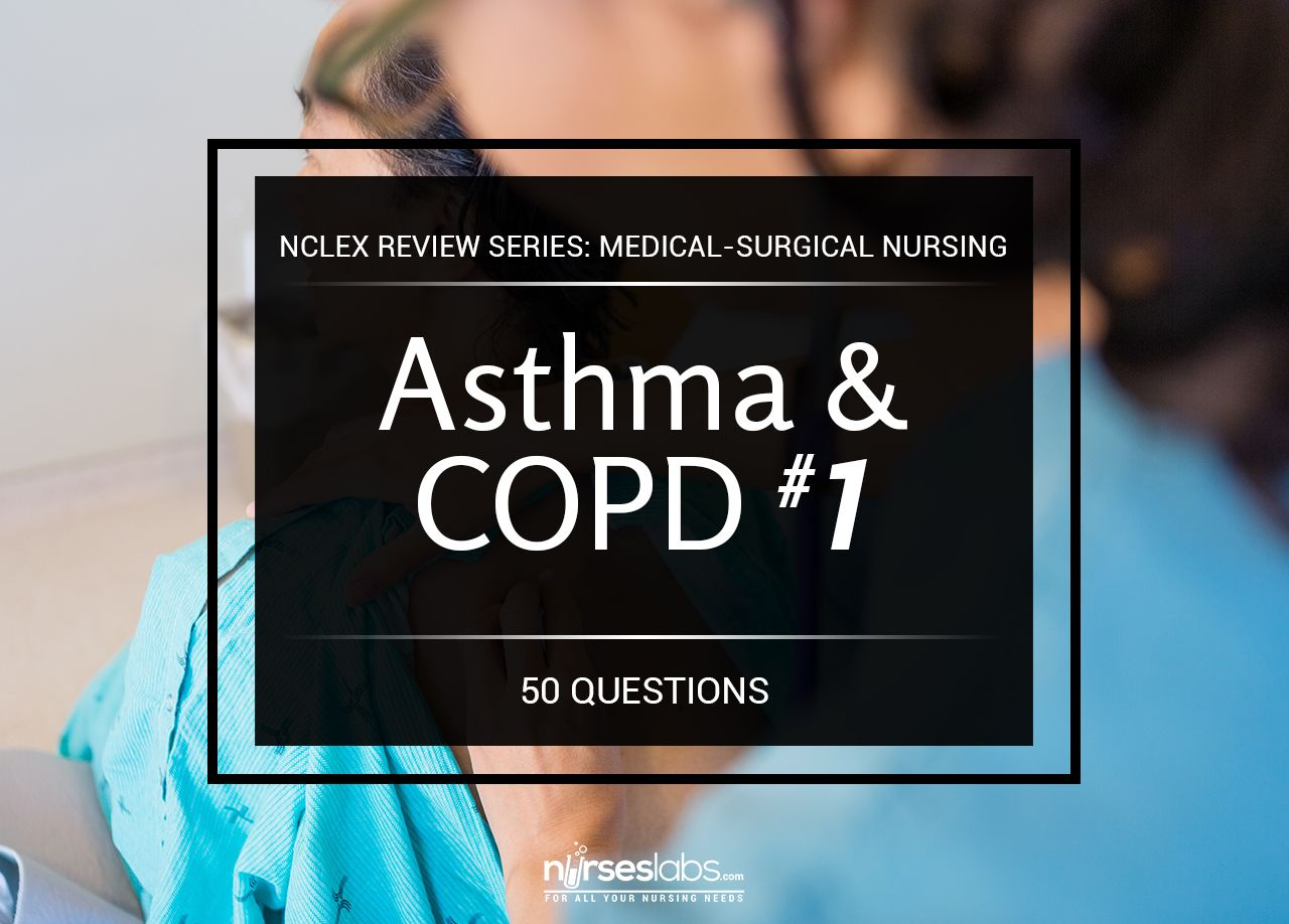 Right knowledge and proper nursing care can have a great impact in improving efficiency of the patient's respiration and ventilation and increasing the chance for recovery. This is a 50-item NCLEX style exam that covers the diseases affecting the Respiratory System. These questions will challenge your knowledge about the concepts behind Bronchial Asthma, COPD, Pneumonia and many more.