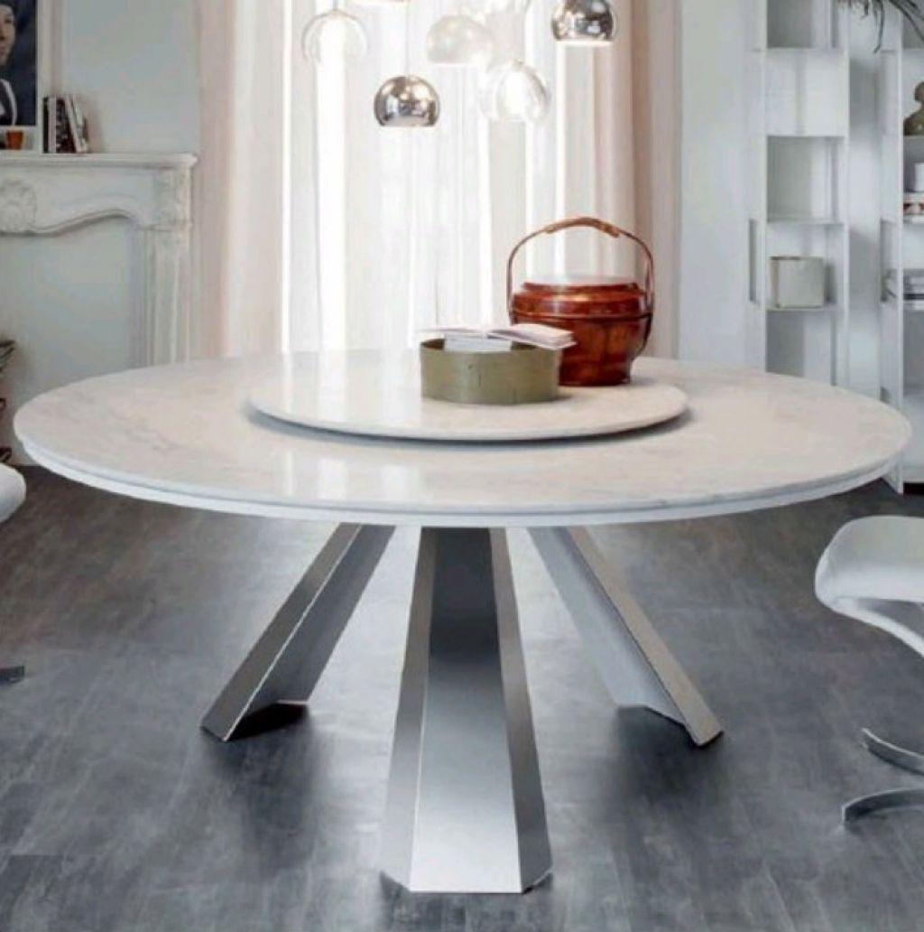 Weiße Möbel: Elegante Weiße Marmor Küche Tisch Designs Möbel