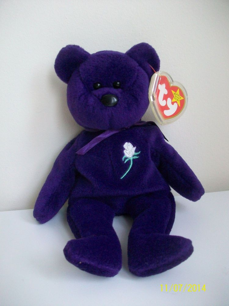 7a57231ea9d RARE Authentic 1st Edition Princess Diana 1997 Retired Beanie Baby PVC  Pellets  Ty