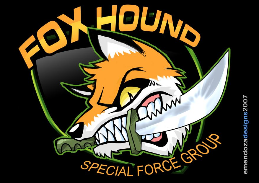 Foxhound Logo The Fox And The Hound Metal Gear Metal Gear Solid