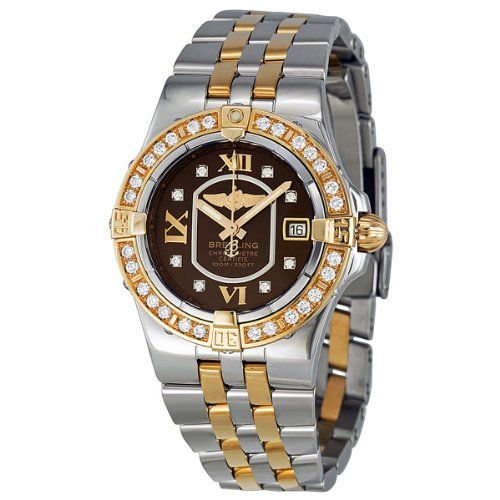 Cheap Bentleys For Sale: #1: Cheap Breitling Starliner Black Diamond Dial Two-tone