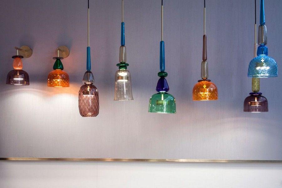 I Flauti Amazing Hand Blown Murano Glass Lamps Colorful Glass