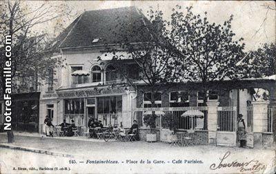 Place de la Gare. - Café Parisien.