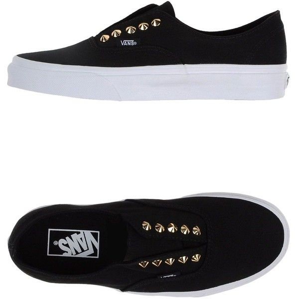 Vans Sneakers (€96) ❤ liked on Polyvore featuring shoes, sneakers, vans, black, round toe sneakers, black trainers, vans sneakers, black sneakers and vans footwear