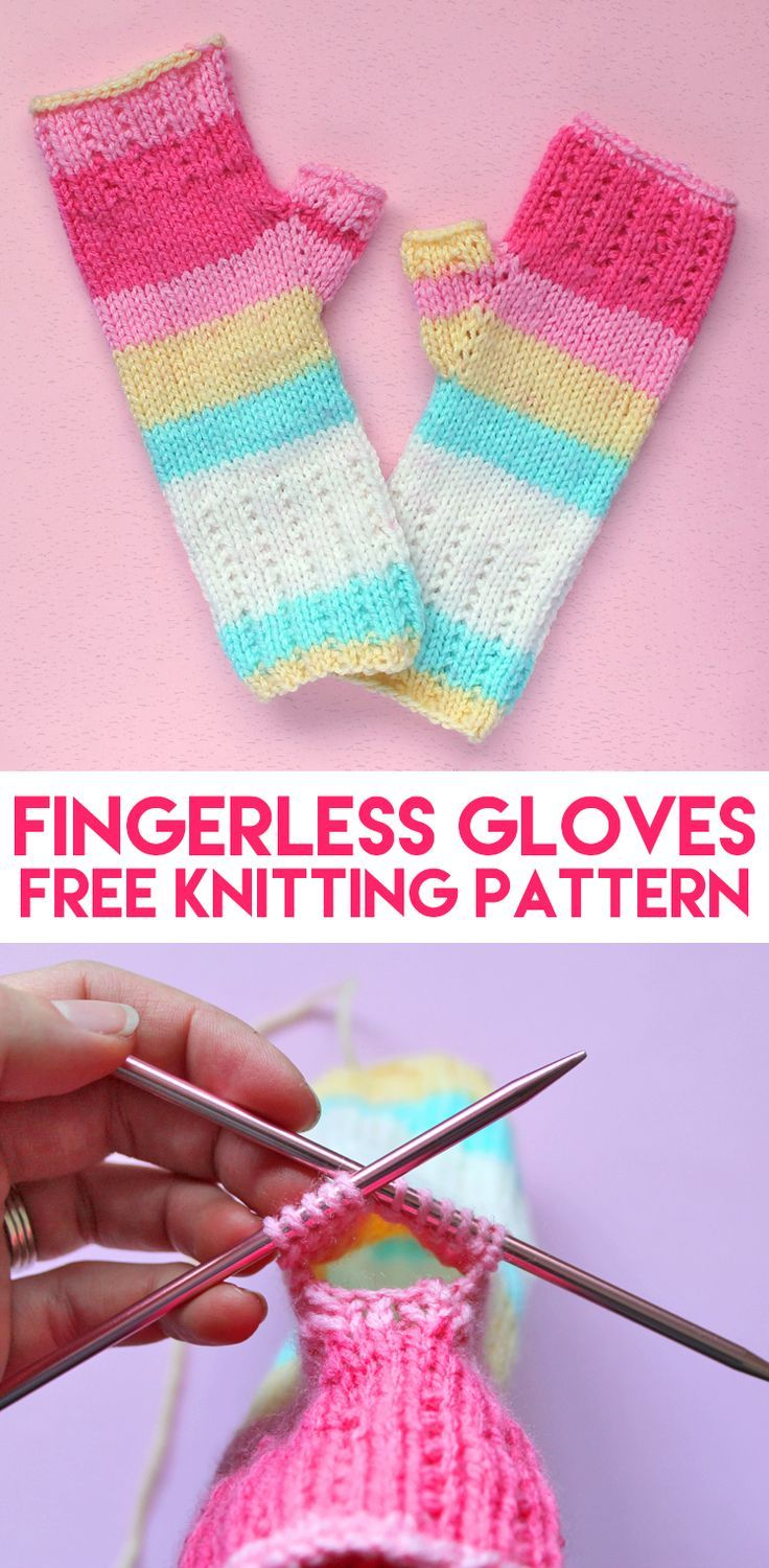 Learn To Knit: Happy Hands Fingerless Mitts Free Pattern