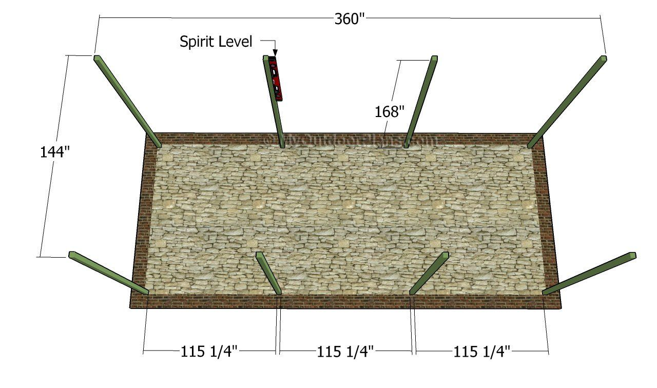 Fitting the posts | Carport plans, Carport, Shed floor plans