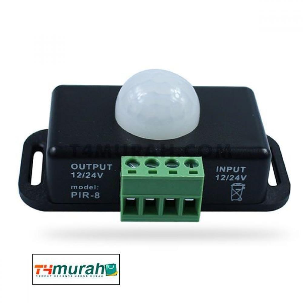 Saklar Sensor Gerak Pir Dc Led Remote Dimmer 5v 24v Dc Led Gerak Lampu
