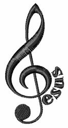 Jesus Musical Note Embroidery Designs, Machine Embroidery Designs at EmbroideryDesigns.com