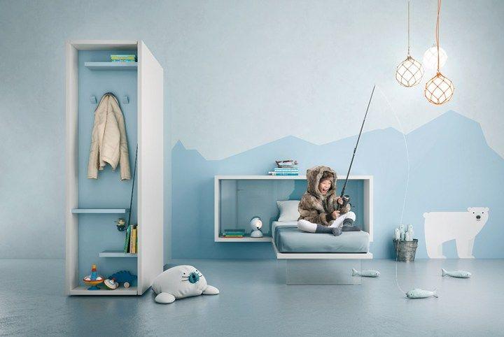 Moderne zwevende kinderkamer meubels van lago kids room pinterest
