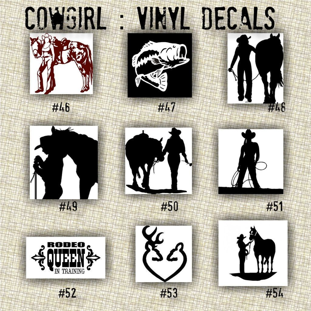 COWGIRL Vinyl Decals Car Window Stickers Vinyl Sticker - Custom die cut vinyl wall decals