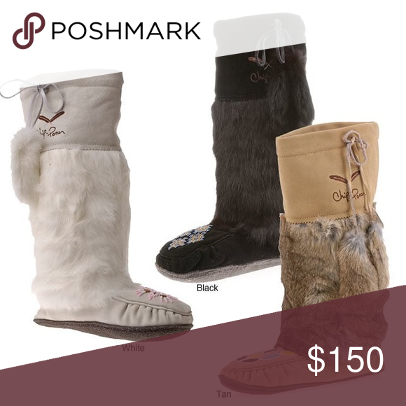 5d8742cfdba New Chip  Pepper Mukluks Rabbit Fur Moccasin Boots Add a bit of character  to your wardrobe