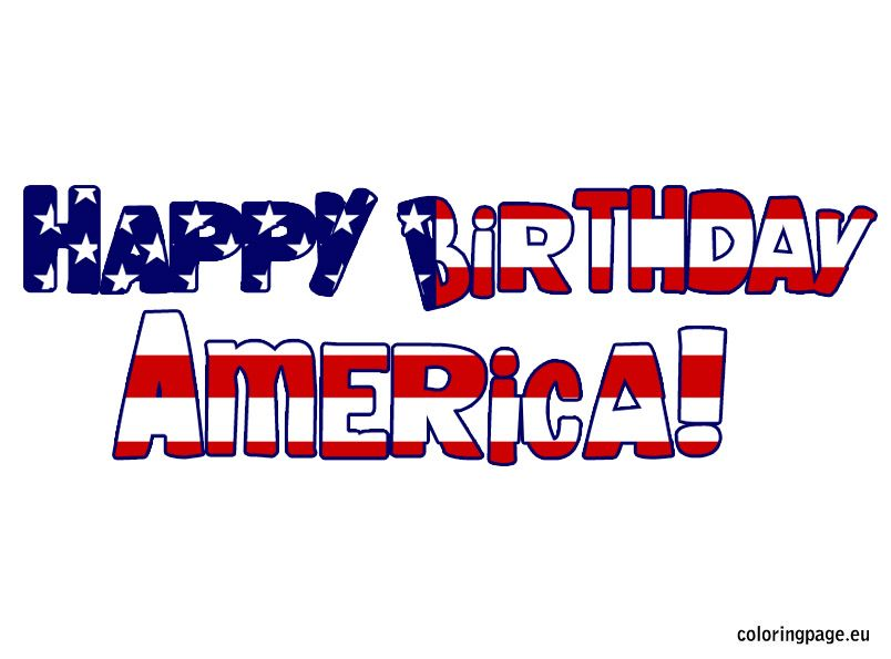 Happy Birthday America Coloring Pages Portraits