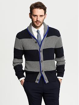 Striped Shawl Collar Cardigan Banana Republic Fashion Pop