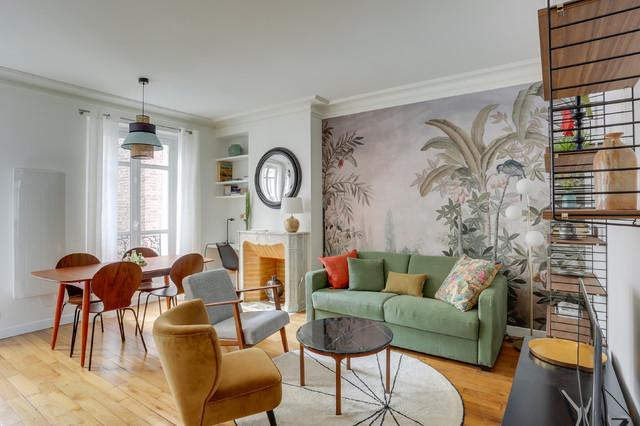 Paris 12 Renovation Complete Appartement De 46 M2 Dans De L Haussmannien Classique Salon Paris P En 2020 Appartement Paris Appartement Architecte Interieur