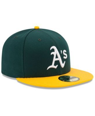 promo code 697be 5d566 New Era Oakland Athletics Authentic Collection 59FIFTY Cap - Green 7 3 8