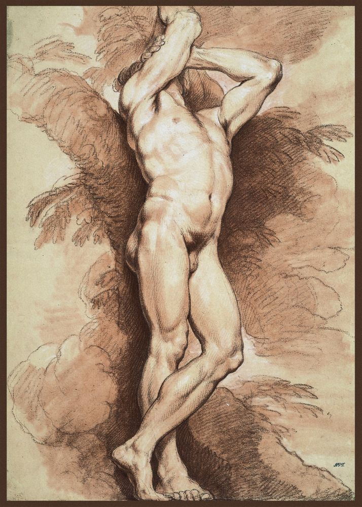Theodore Gericault Study Of A Male Nude Painting