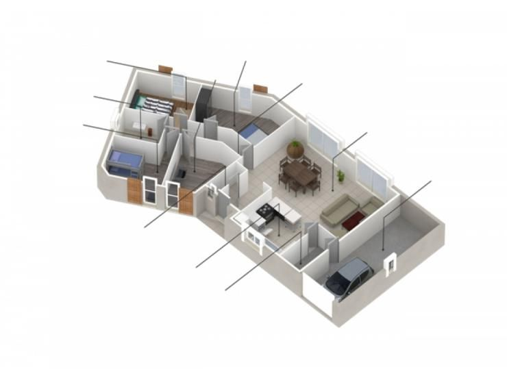 Plans de maison mod le primera alpes maison de plain pied de 109m2 3 chambres maison - Modele maison plain pied 3 chambres ...