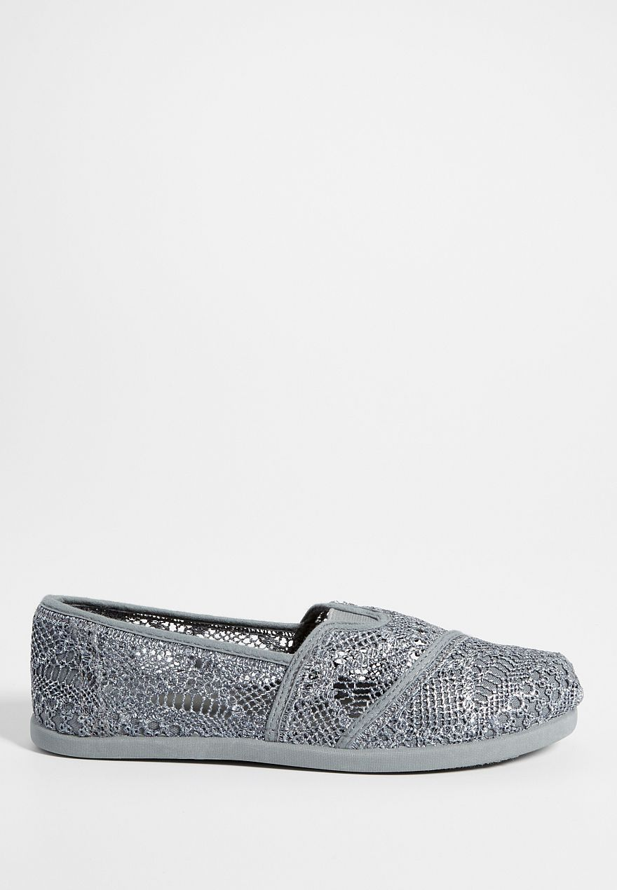 lucy slip on with metallic shimmer in gray