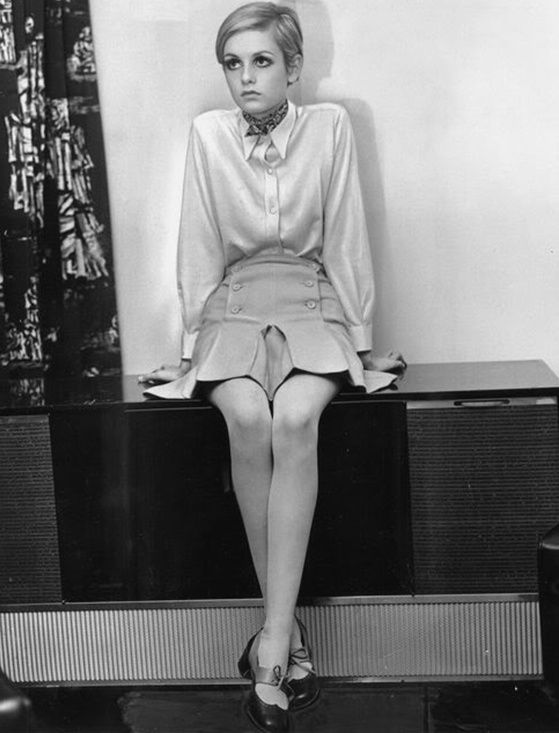 Twiggy. I would have no qualms about dressing like this every day for the rest of my life.