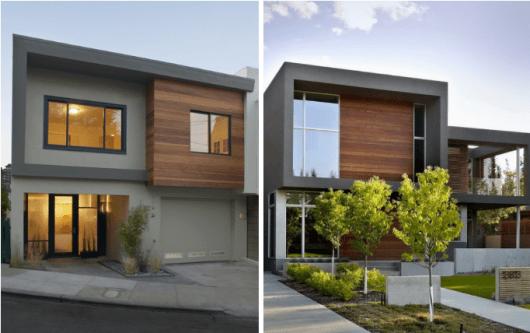 Sobrado cinza com madeira 2 casas pinterest fotos de for Casas modernas lima