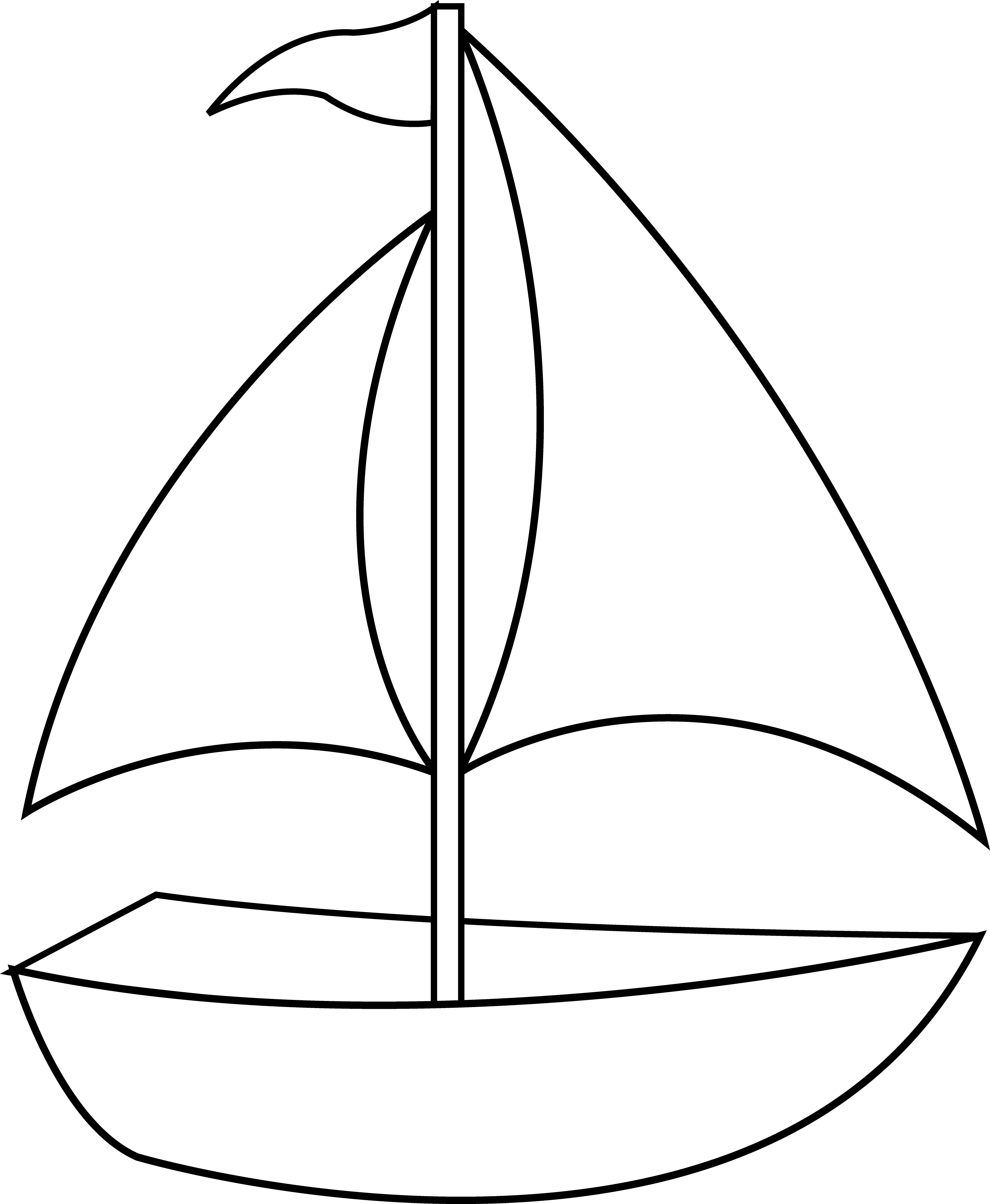 Grandpa's Sailboat Coloring Page - Twisty Noodle | 4744x3901