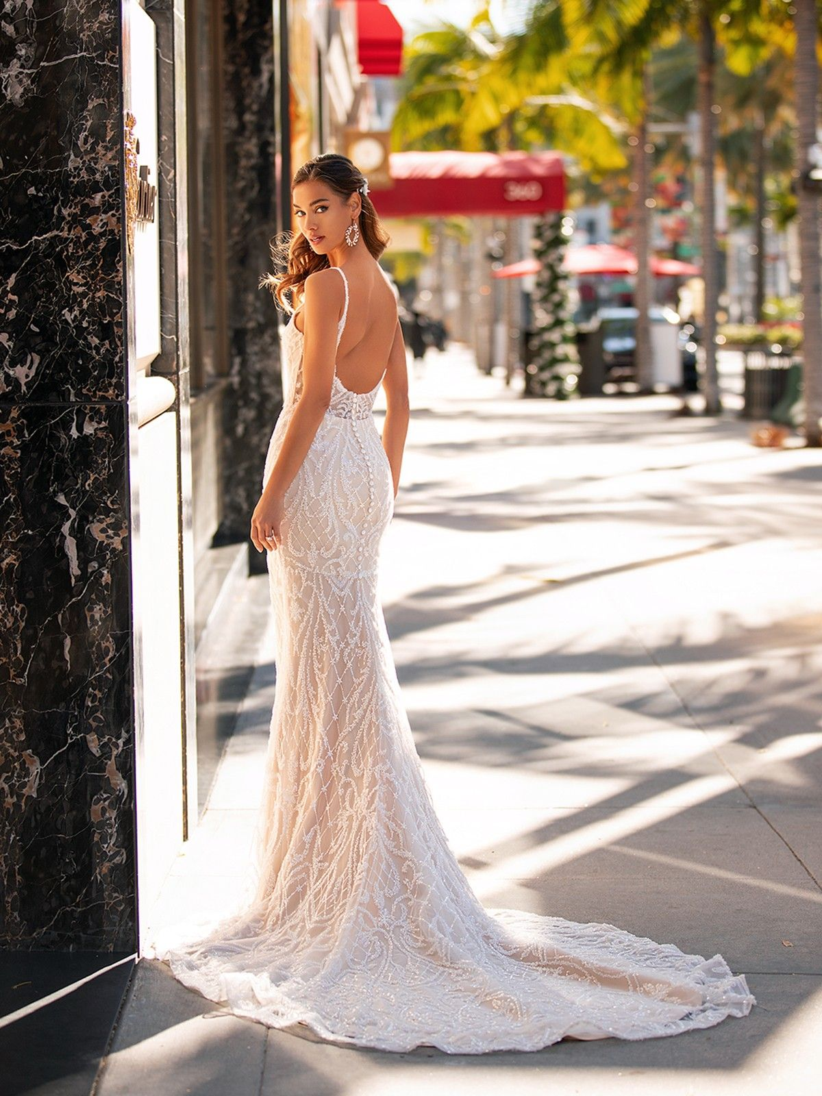 Beaded Sweetheart Neck Mermaid Couture Gown H1442 Wedding Dresses Beaded Wedding Dresses Lace Wedding Dresses [ 1600 x 1200 Pixel ]