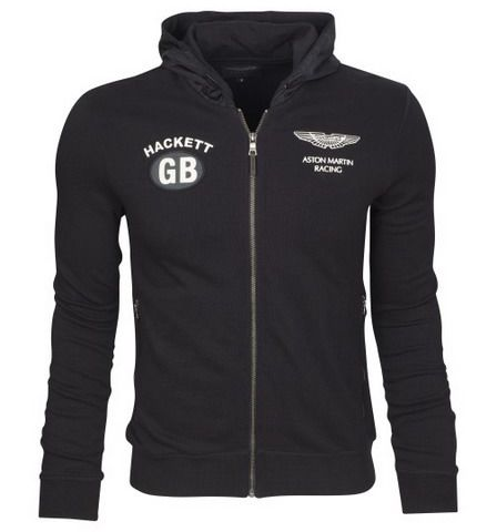 polo ralph lauren discount Hackett London Aston Martin Racing GB Terry  Cotton Full Zip Hoody Black