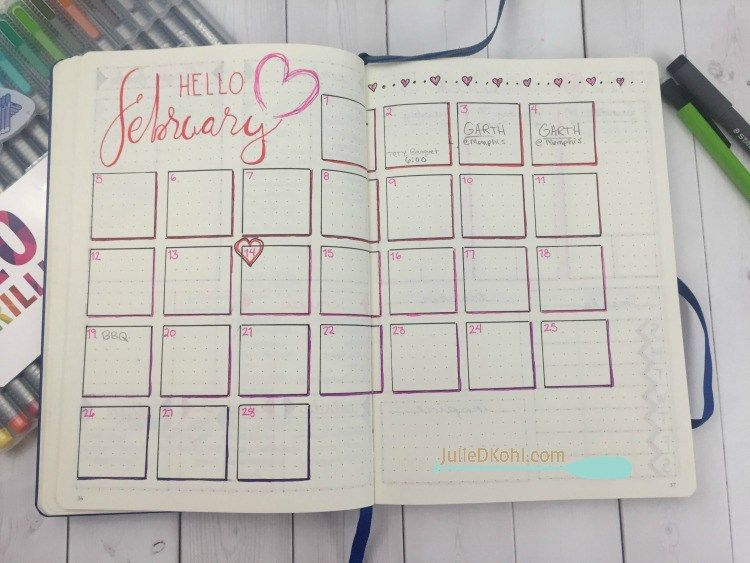 Bullet Journaling January And February Walk Through With Video