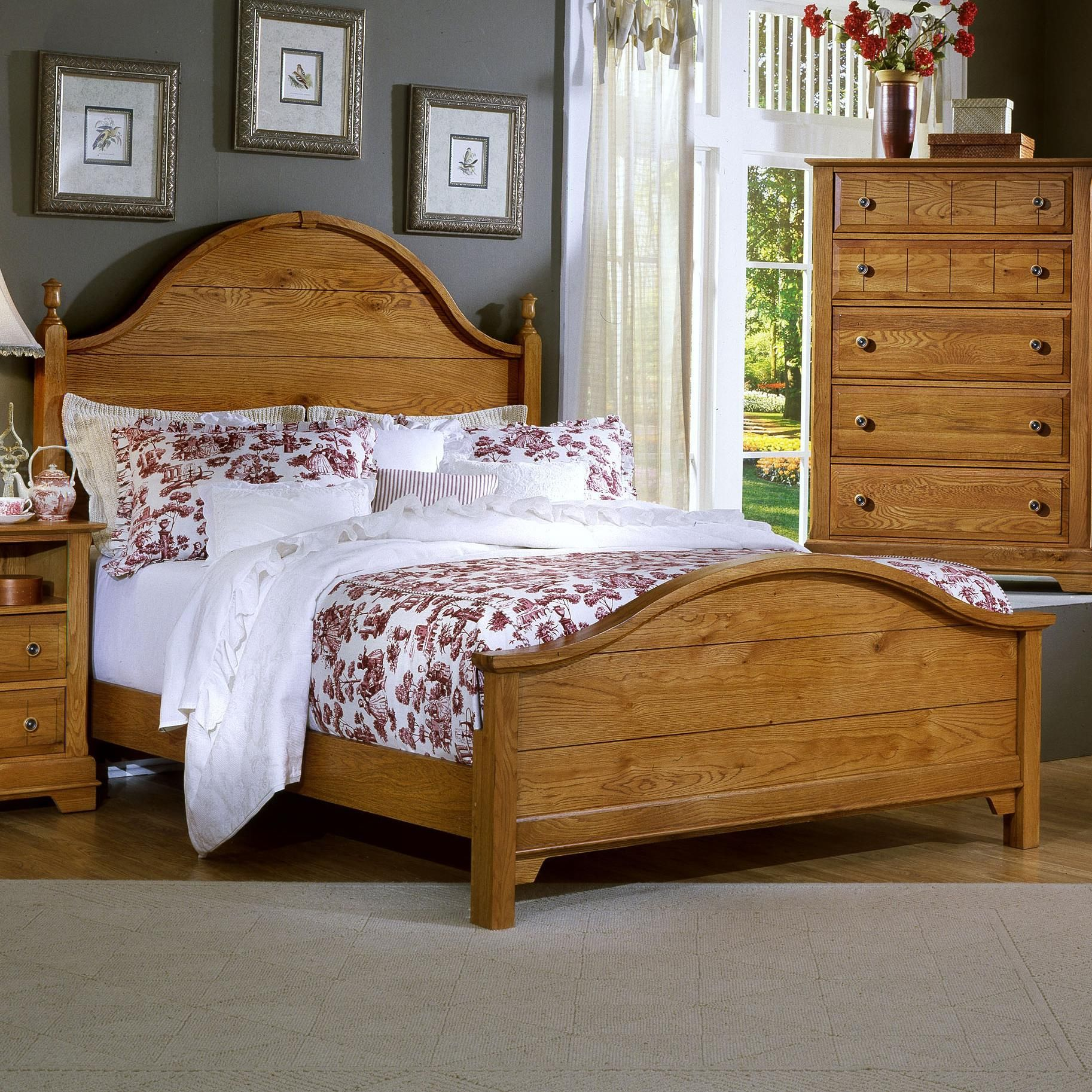 Bassett Bedroom Set: Cottage Queen Panel Bed By Vaughan Bassett