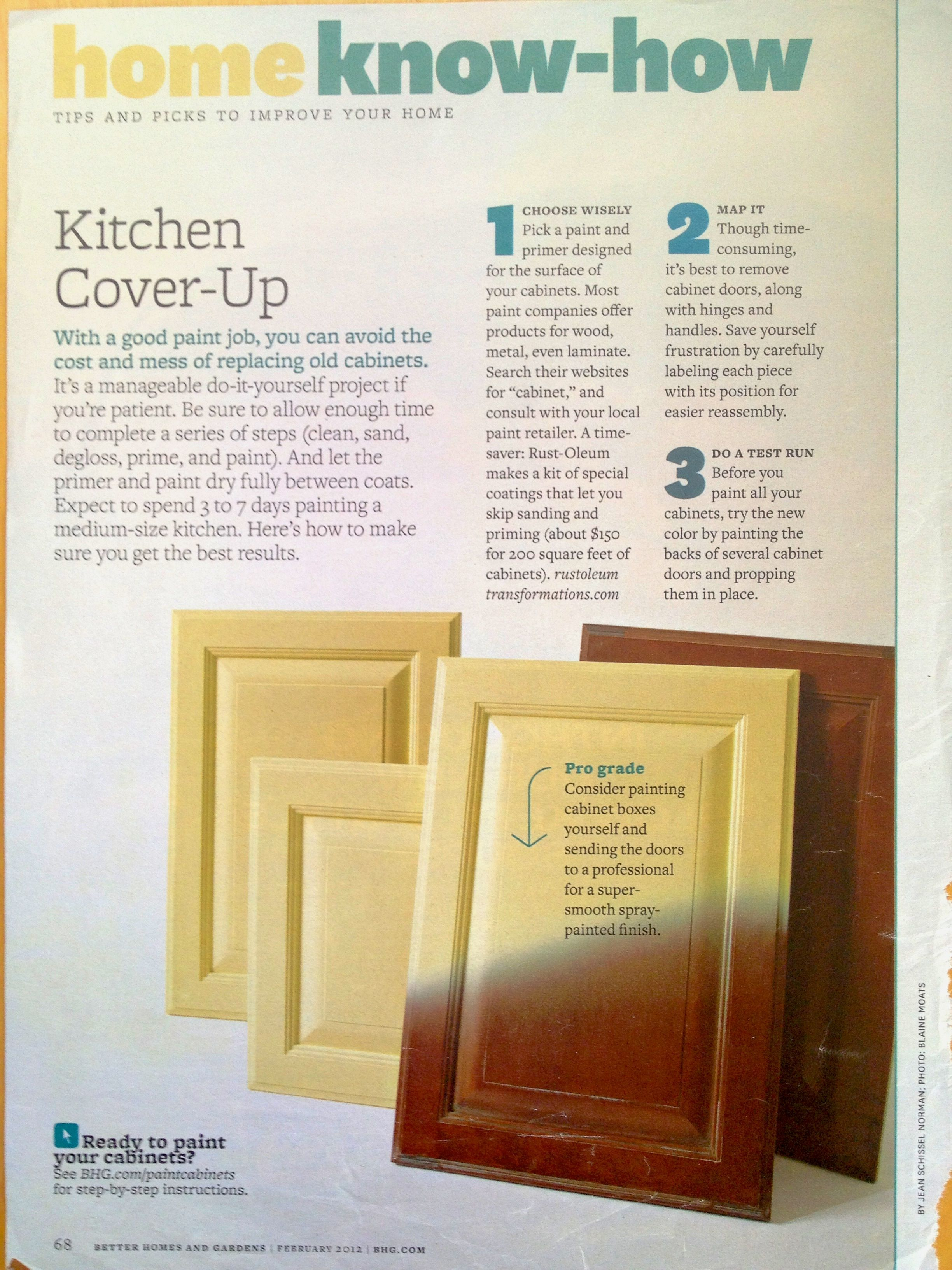 DIY tips for painting kitchen cabinets | Kitchen | Pinterest ...