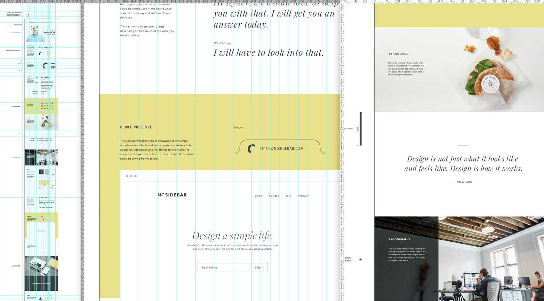 Vertical Style Guide Template For Just  From Sidecar  Adobe