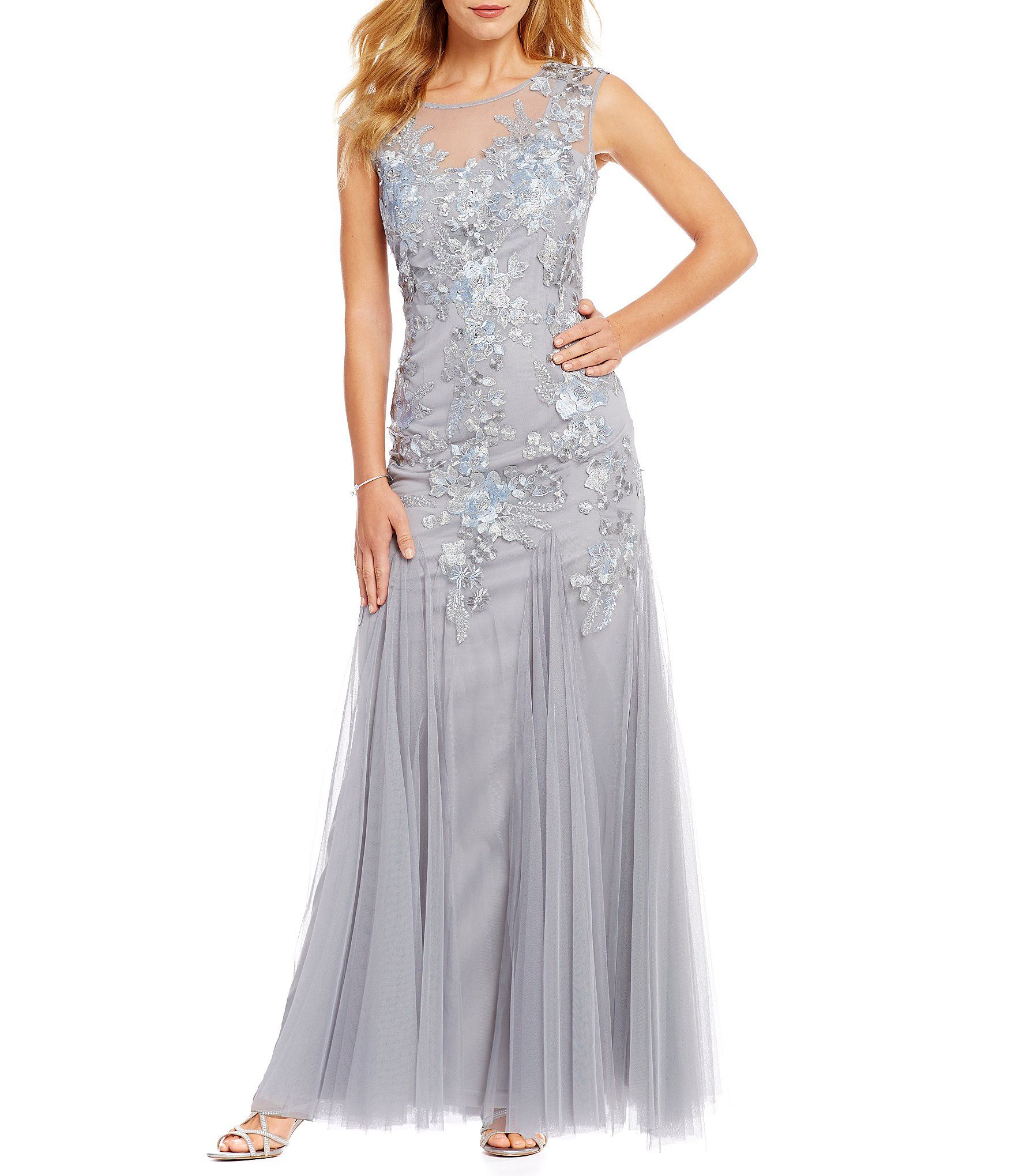 Emma street embroidered tulle gown tulle gown dillards and gowns