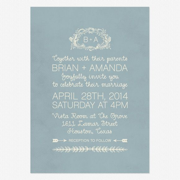 Cursive Wedding Invitations: In Cursive Wedding Invitations